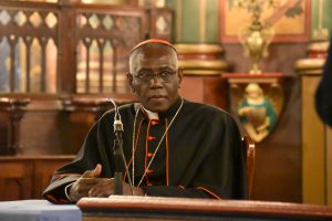 "Cardinal Robert Sarah, Prefect of the Congregation for Divine Worship and the Discipline of the Sacraments, is ""profoundly convinced that our bodies must participate in this conversion to God. The best way is certainly to celebrate—priests and faithful—turned together in the same direction: Toward the Lord who comes."""
